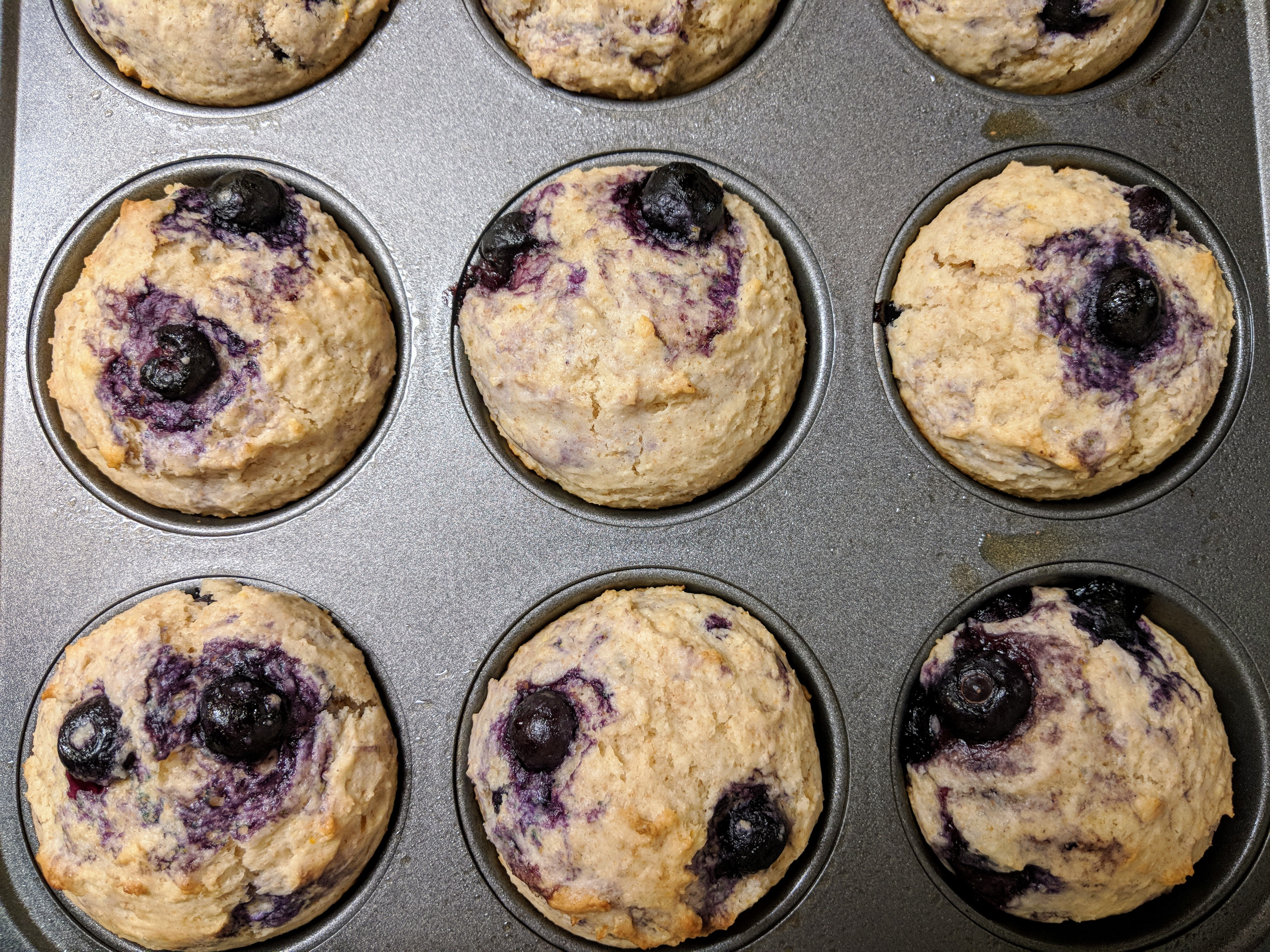 Blueberry Lemon Muffins - Nutrition Thyme RD