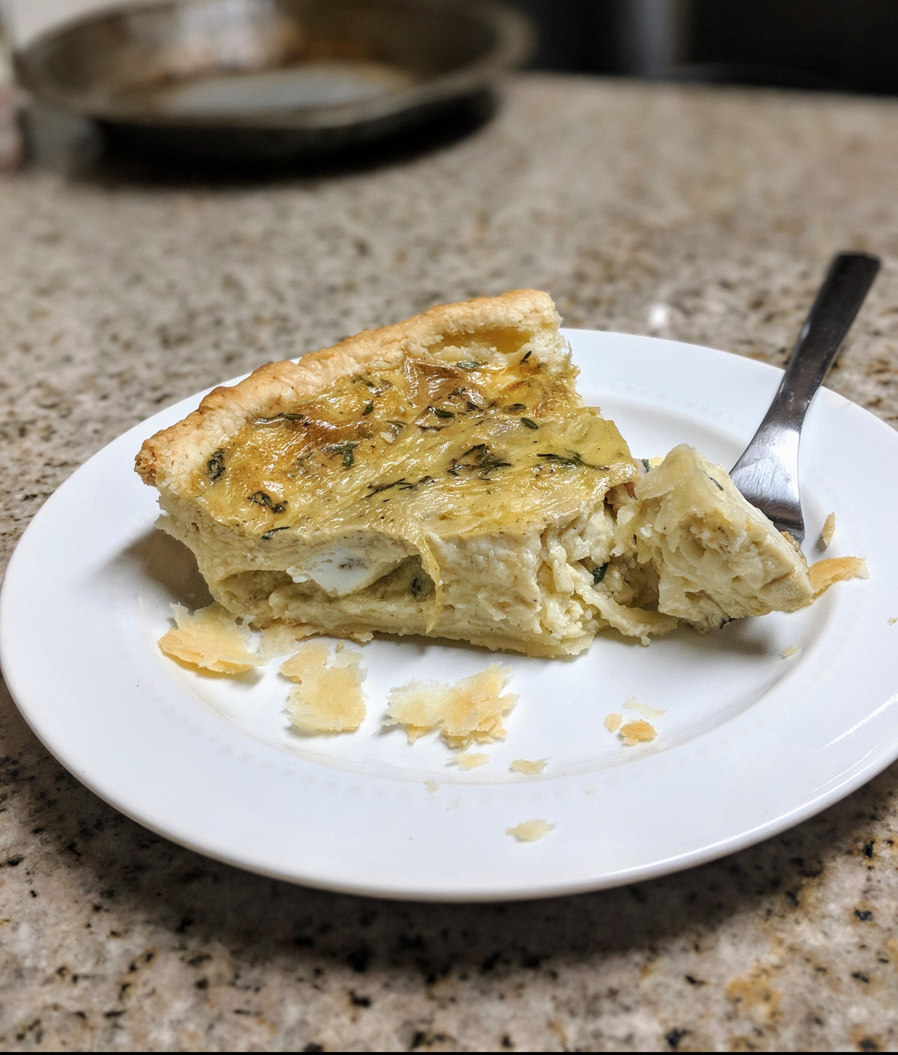Mozzarella Quiche - Nutrition Thyme RD