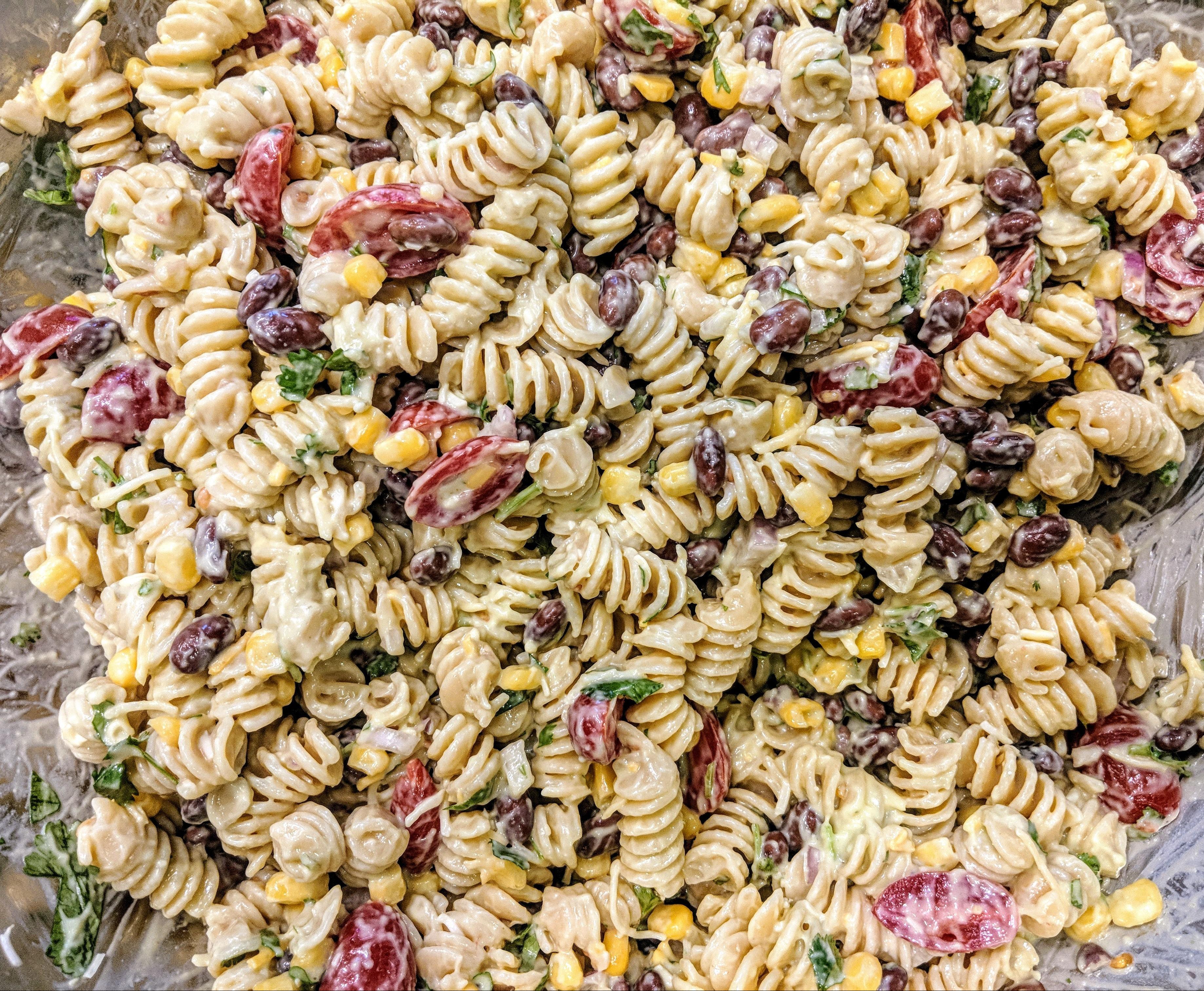 Southwestern Pasta Salad - Nutrition Thyme RD