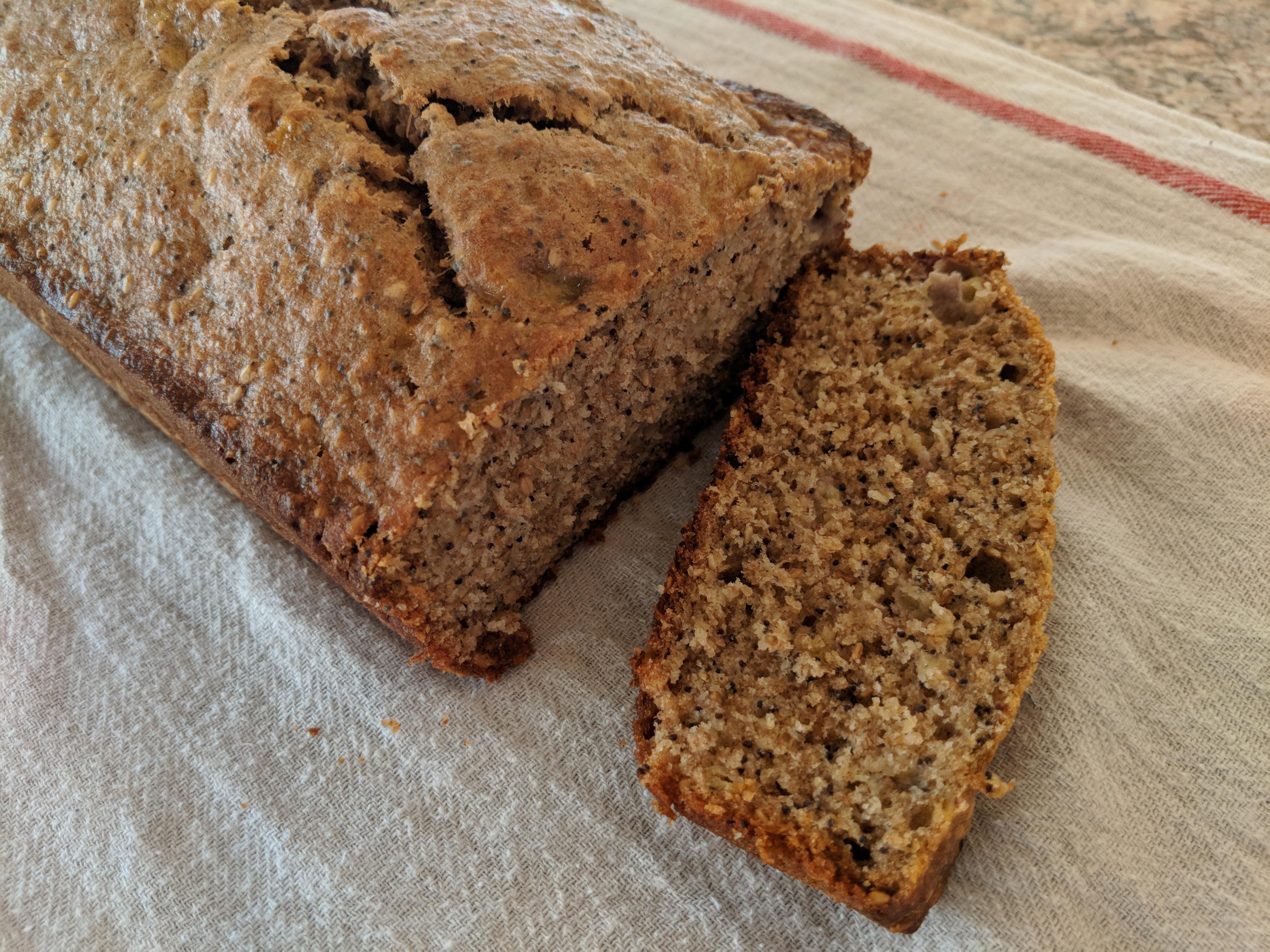 Sesame Poppy Banana Bread - Nutrition Thyme RD